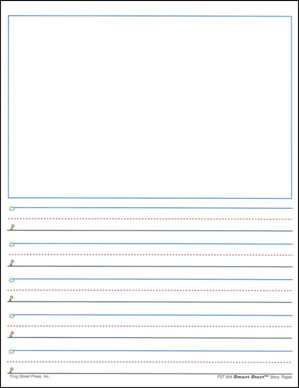 Printable Writing Paper For Kindergarten - Scalien