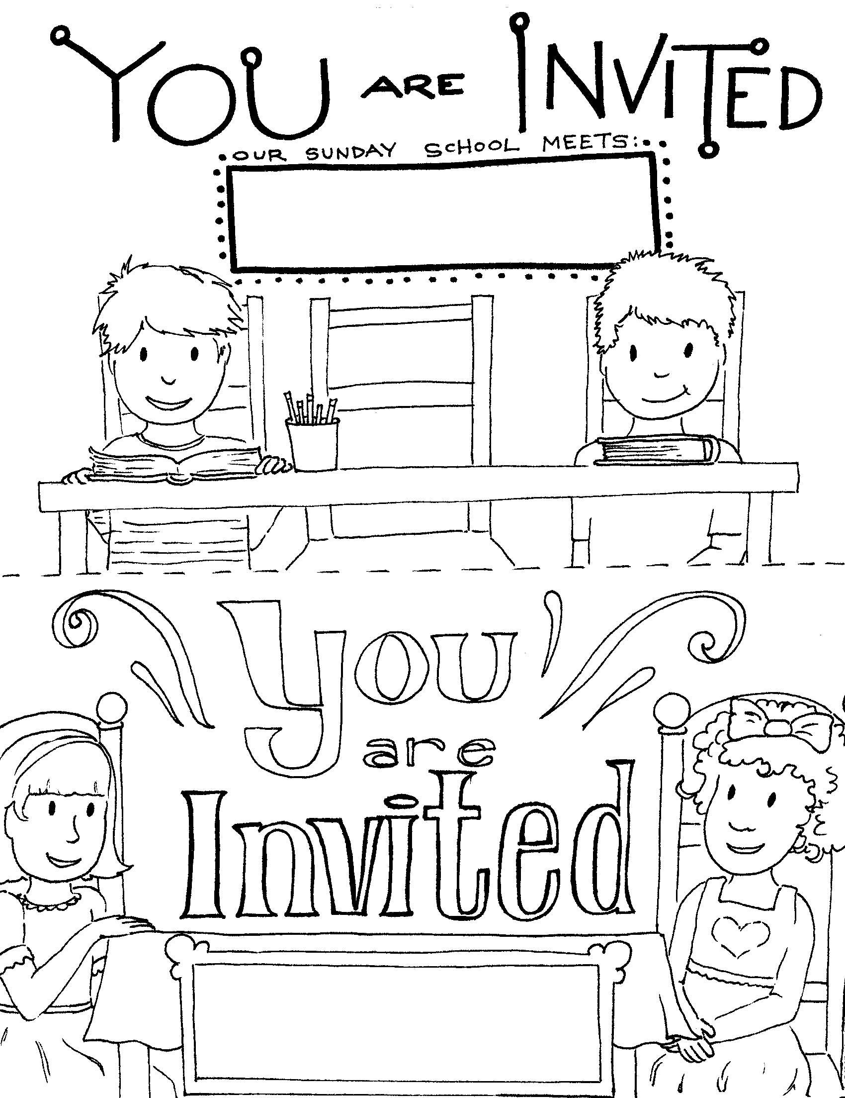 5 Images of Free Printable Invitation To Church
