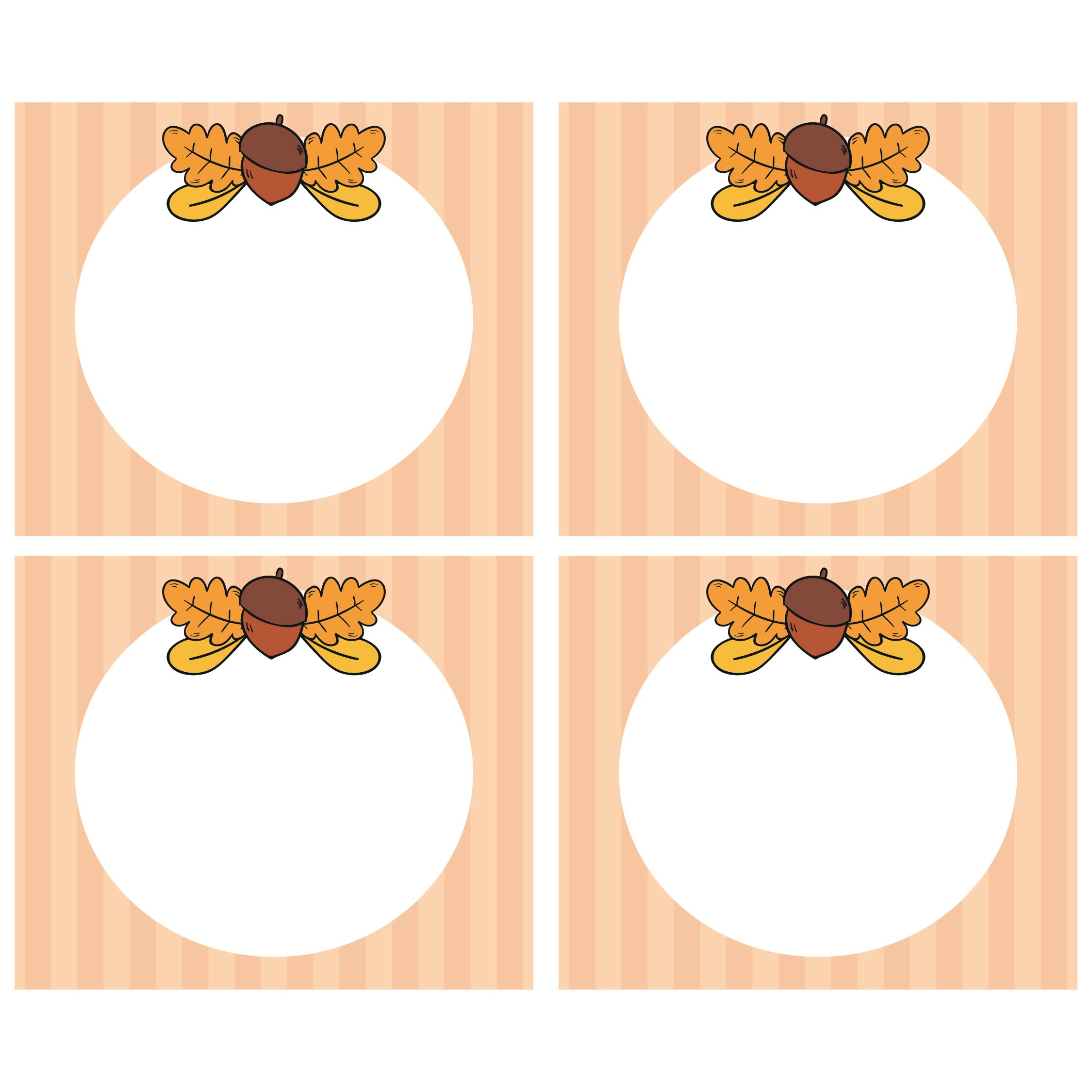 Thanksgiving Table Name Tags Printable Template