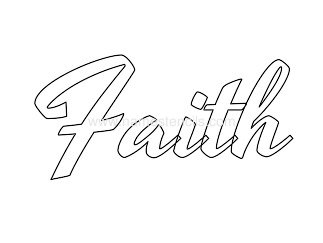 6 Images of Faith Printable Stencil
