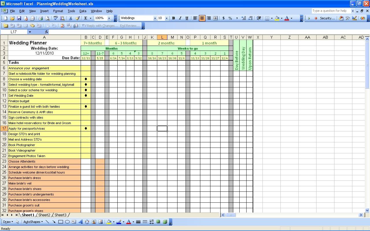 Printables Wedding Planning Worksheets 9 best images of printable wedding planning worksheets free worksheet template