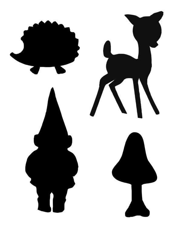 4 Images of Free Printable Woodland Animal Silhouette