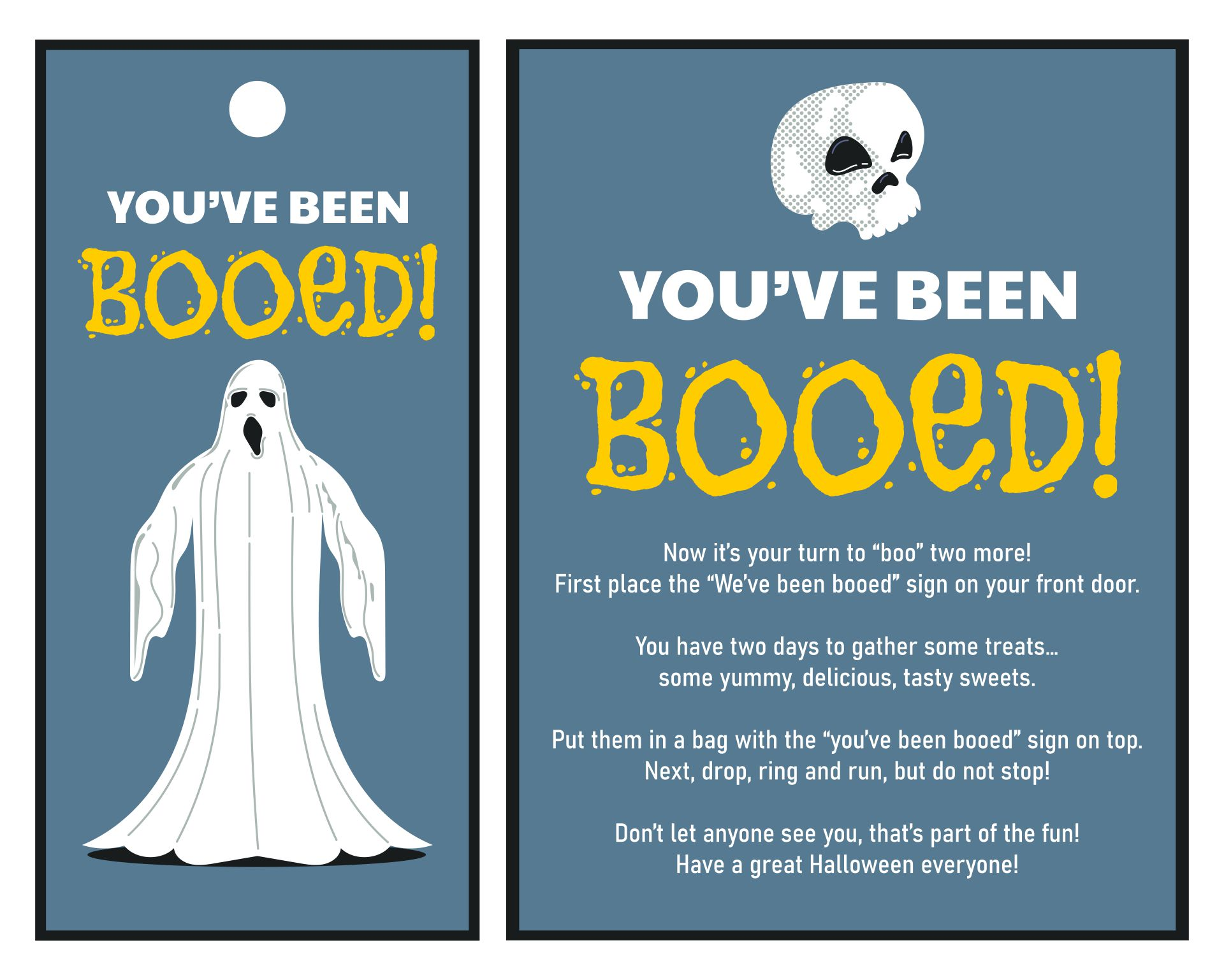 Youve Been Booed Printable