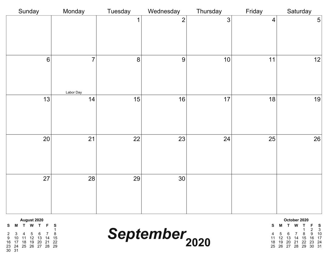 31 Day Monthly Calendar
