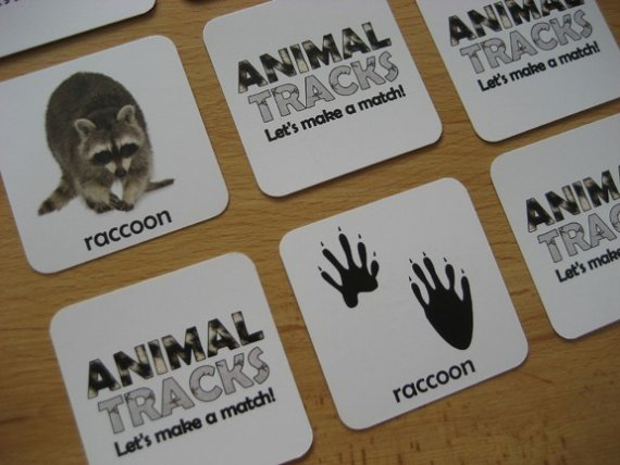 7 Images of Animal Tracks Printable Game For Adults