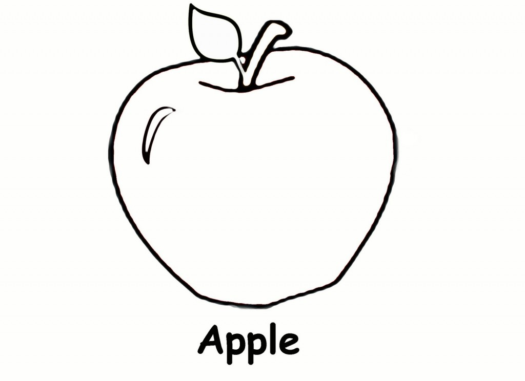4 Images of Free Printable Apple Coloring Pages