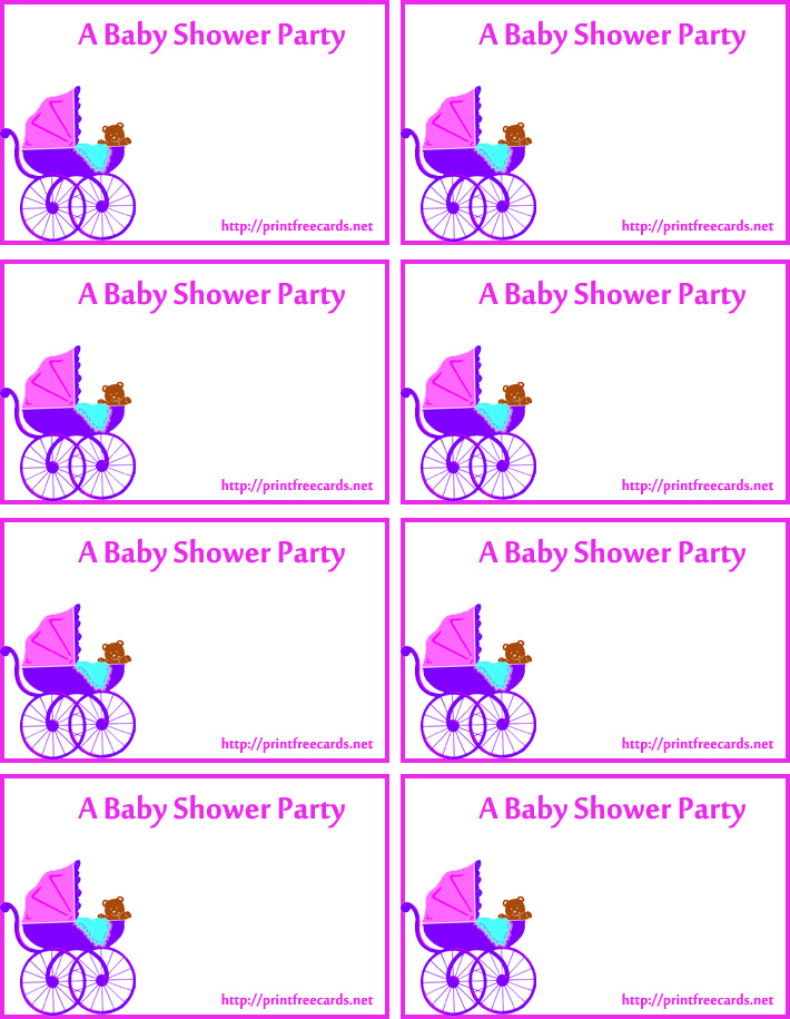 7 Images of Printable Baby Shower Name Tags