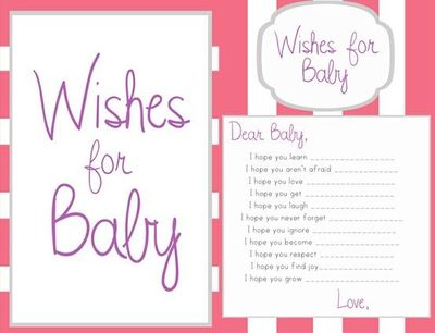 6 best images of printable wishes for baby template free for Wishes for baby printable template