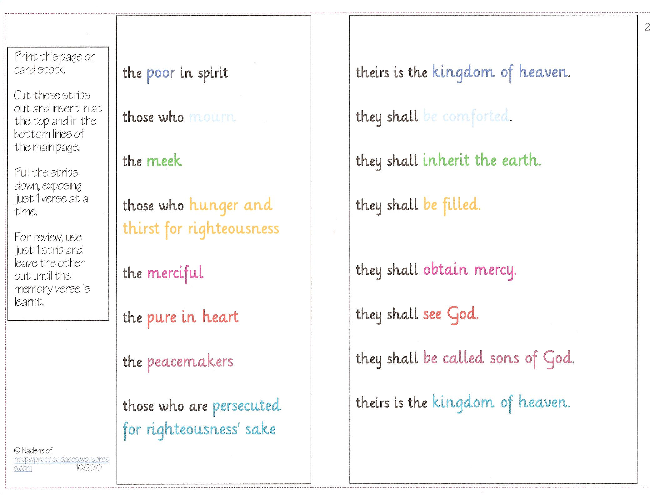 Printables Beatitudes Worksheet printables beatitudes worksheet safarmediapps worksheets 6 best images of printable matthew 5 activities printables