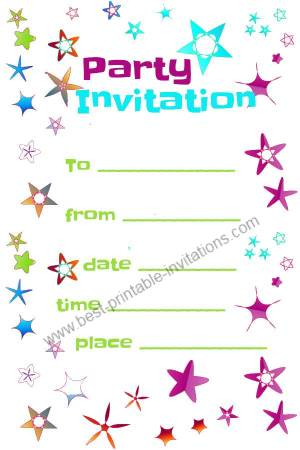 8 Images of Free Printable Party Invitations Templates