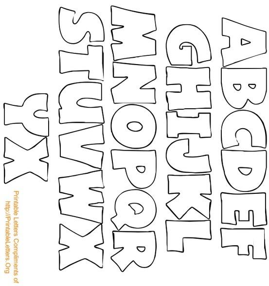 5 Images of Printable Block Letters Alphabet Bubble