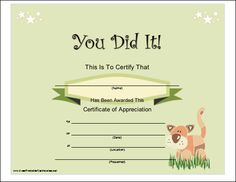 7 Images of Jungle Bible School Certificate Printable