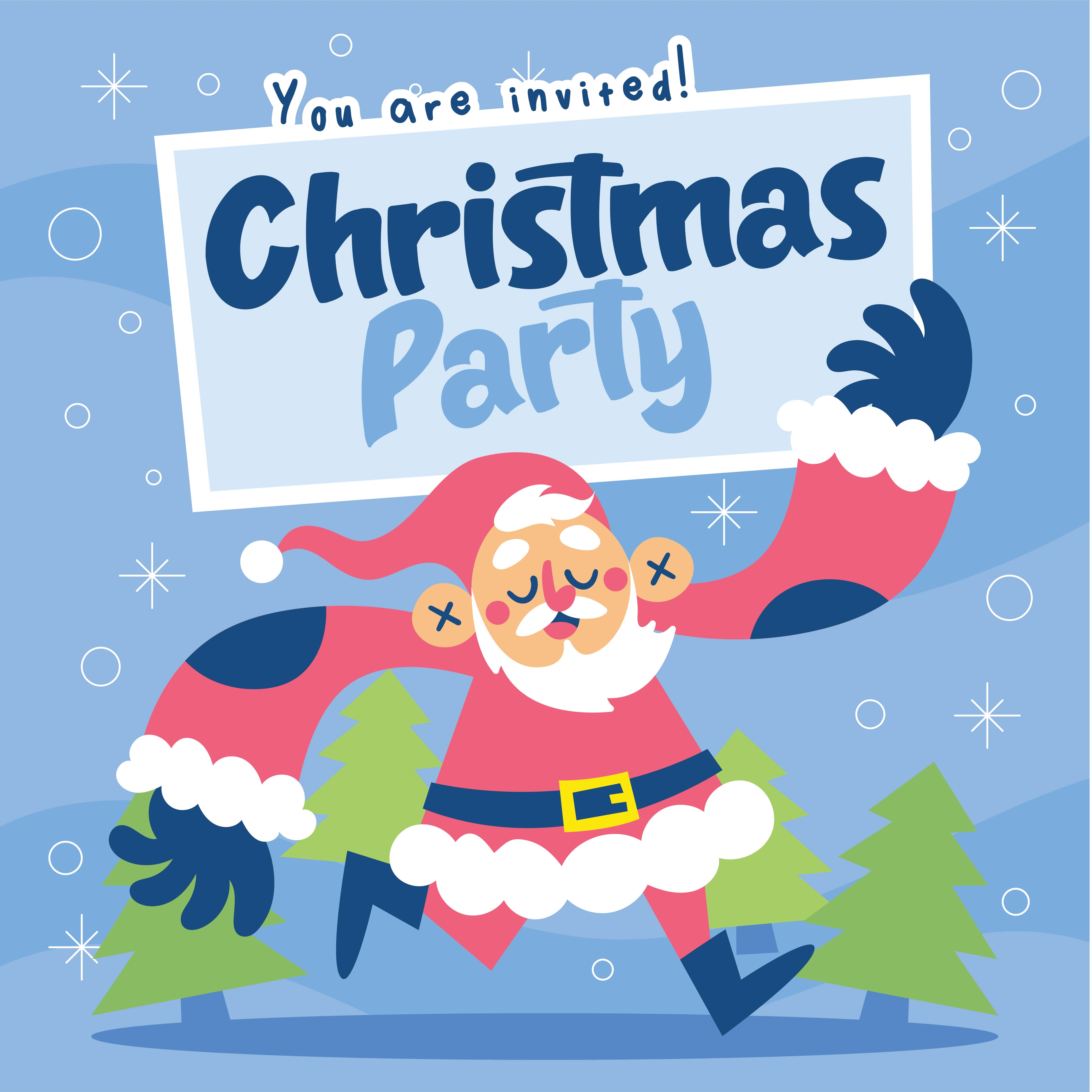 7 Images of Christmas Party Free Printable Template
