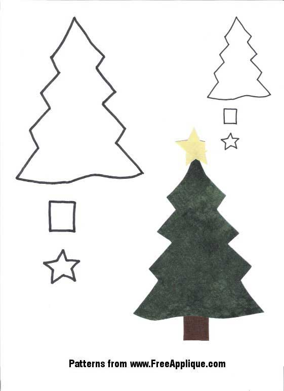 5 Images of Free Printable Christmas Applique Patterns