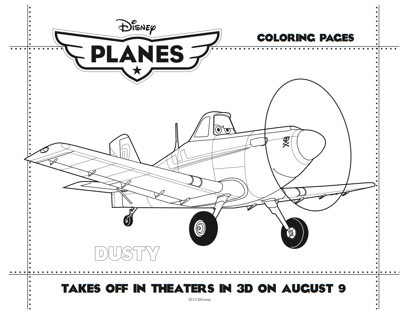 7 Images of Disney Planes Printables Coloring