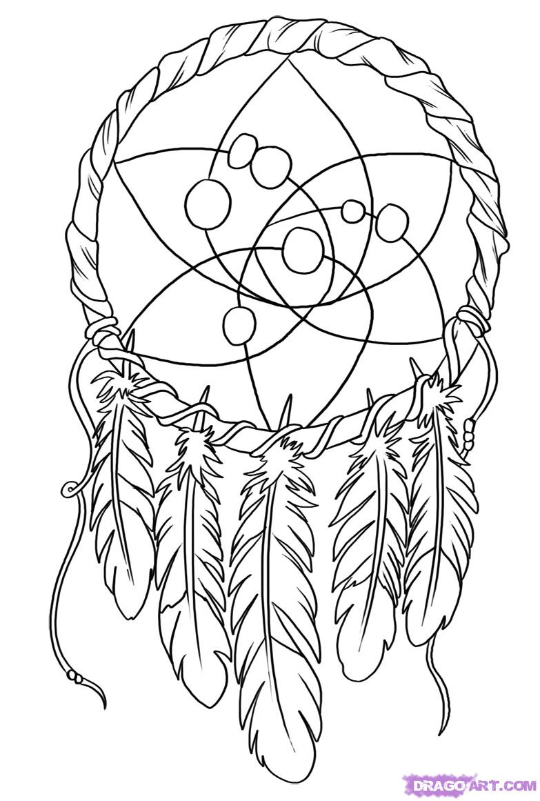 5 Images of Dream Catcher Coloring Pages Printable