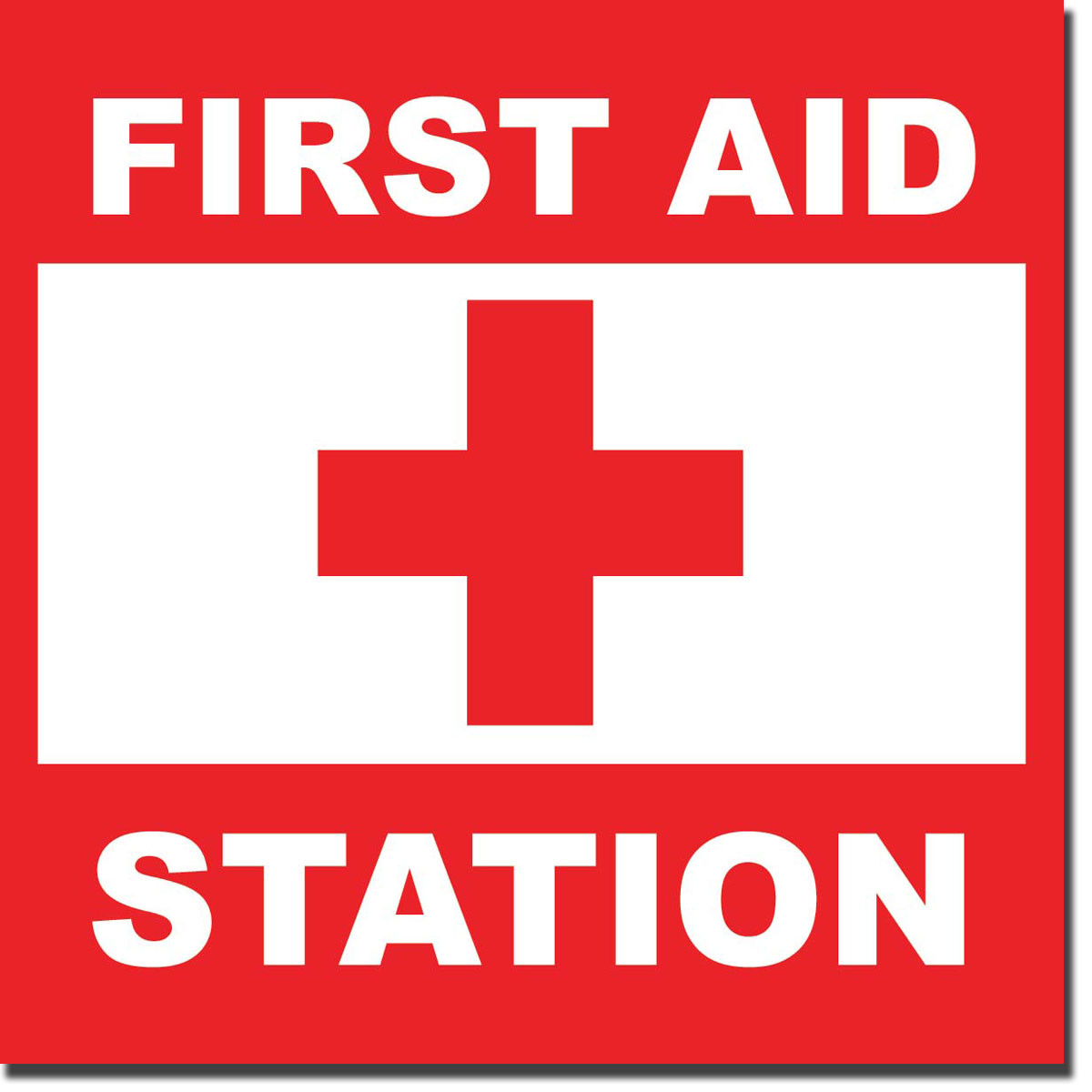 Epic image with printable first aid sign
