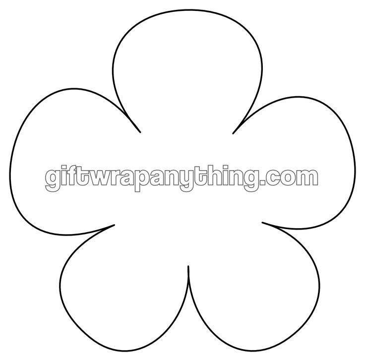 4 Images of Printable Flower Cutouts
