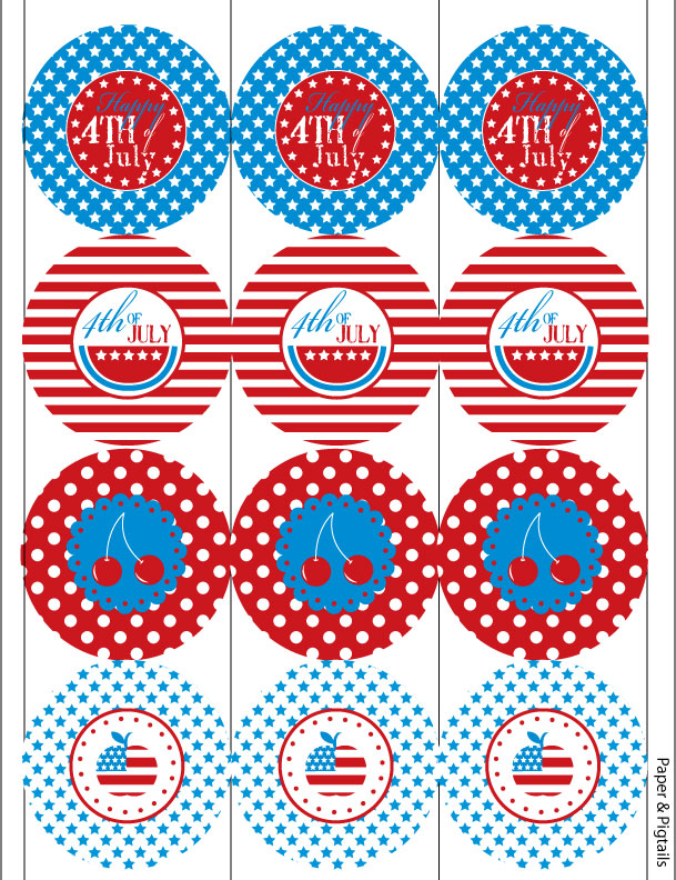 6 Images of 4th Of July Printable Paper