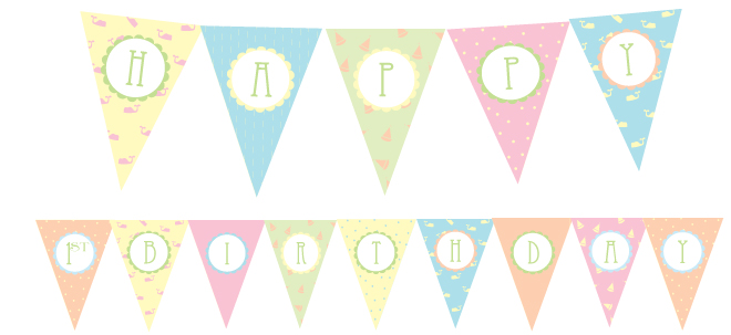 8 Images of 1st Birthday Printables Free