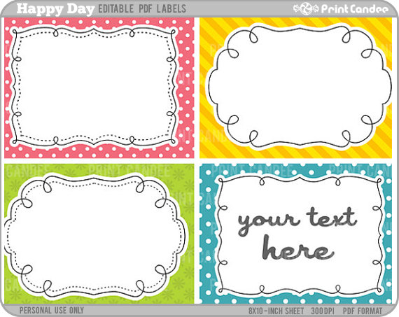 4 Images of Birthday Printable Gift Tags Large