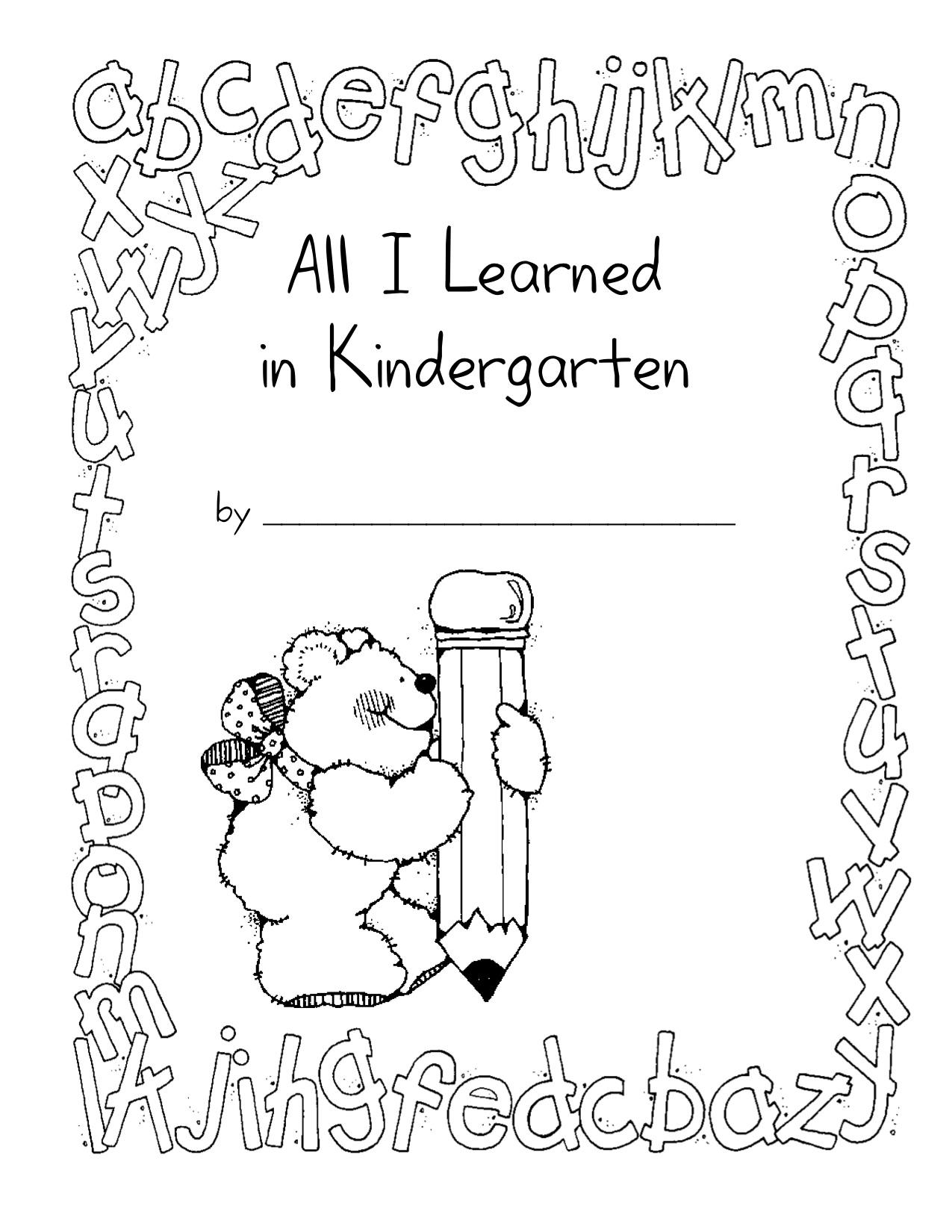 7 Images of Kindergarten Memory Book Printables
