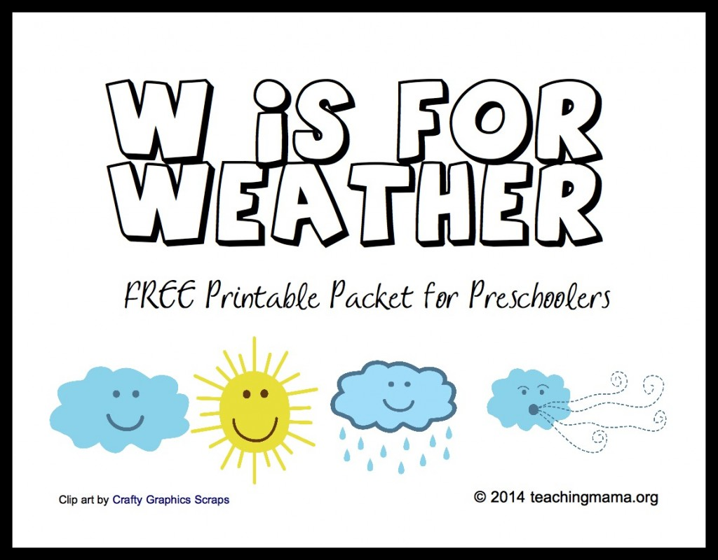 6 Images of Preschool Printables Weather