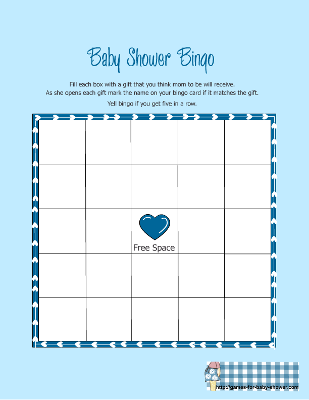 5 Images of Free Printable Baby Shower Bingo Games