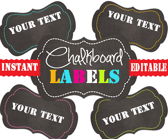 4 Images of Printable Chalkboard Labels