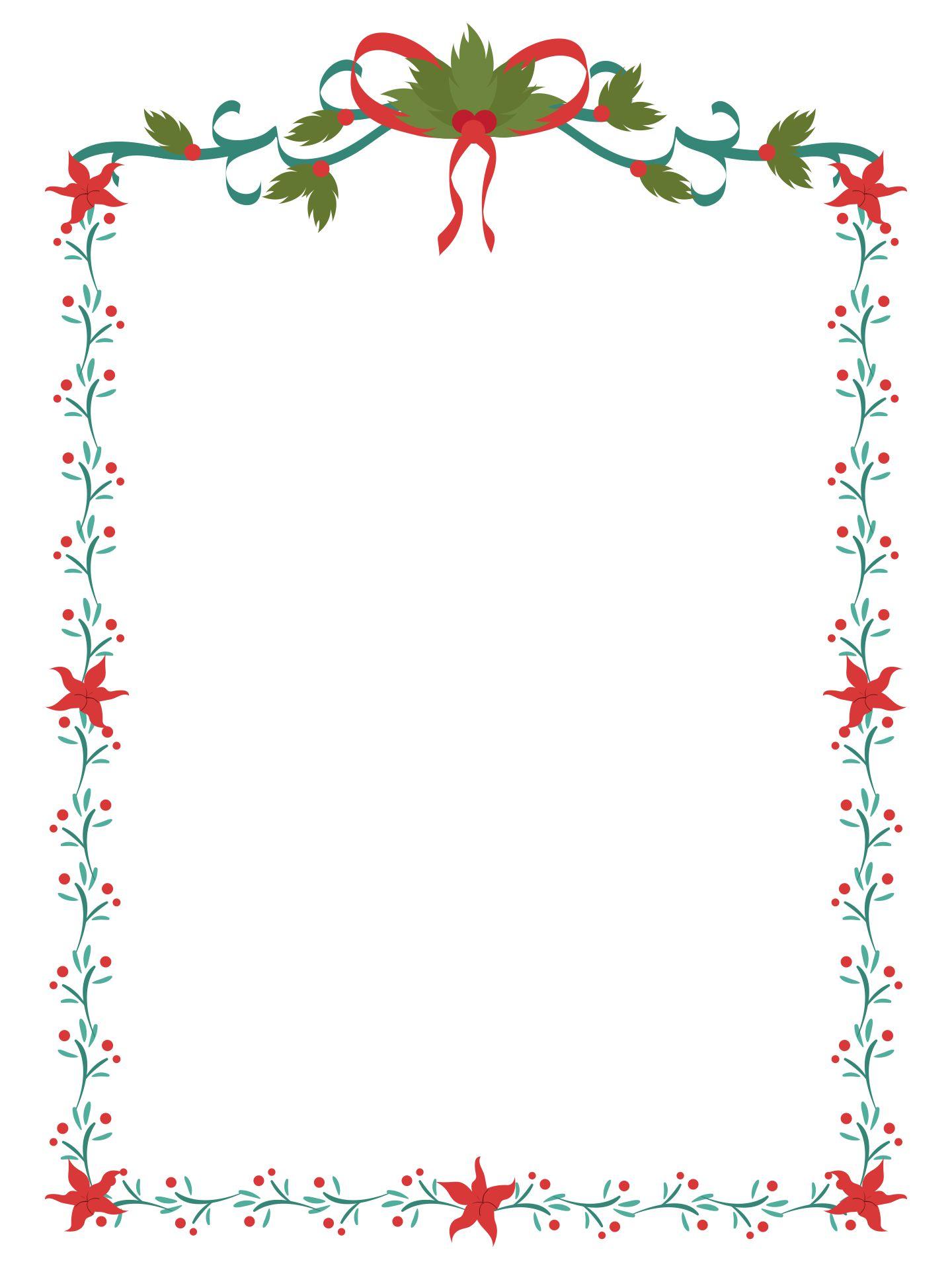 Printable Christmas Borders Clip Art