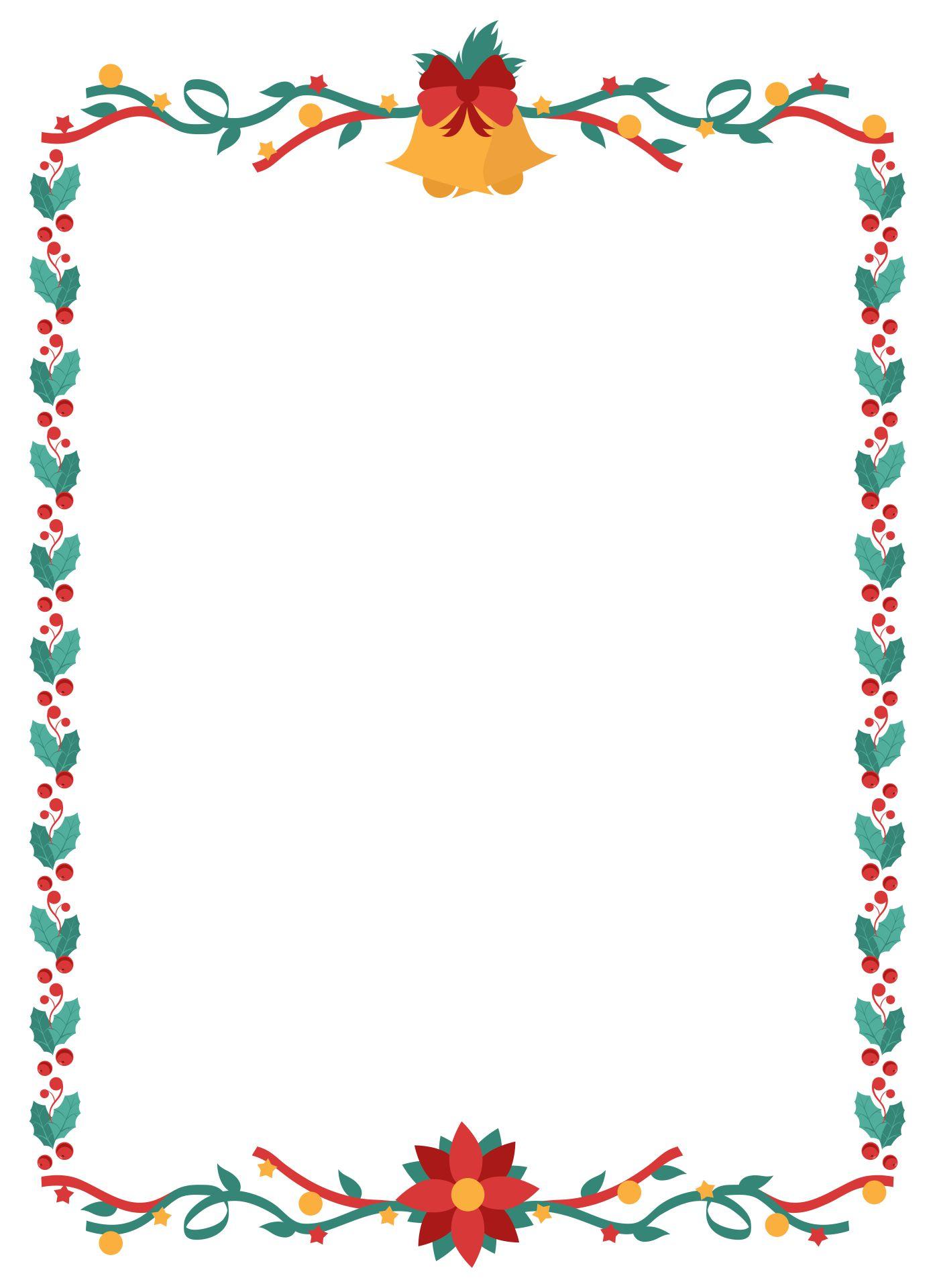 6 Images of Free Printable Christmas Stationary Borders