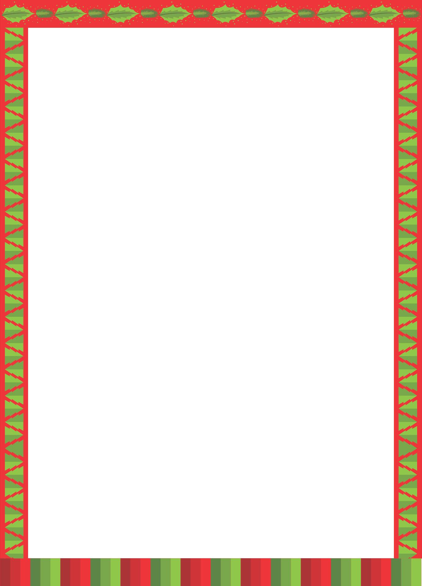 Printable Christmas Stationery Borders