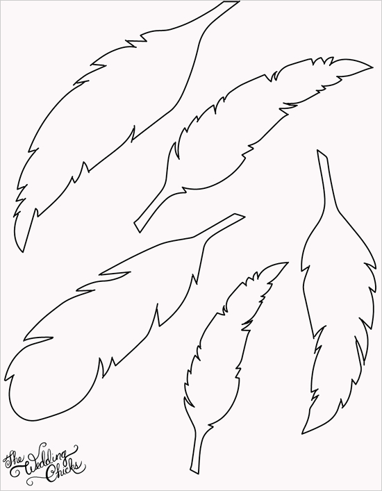 5 Images of Printable Feather Template
