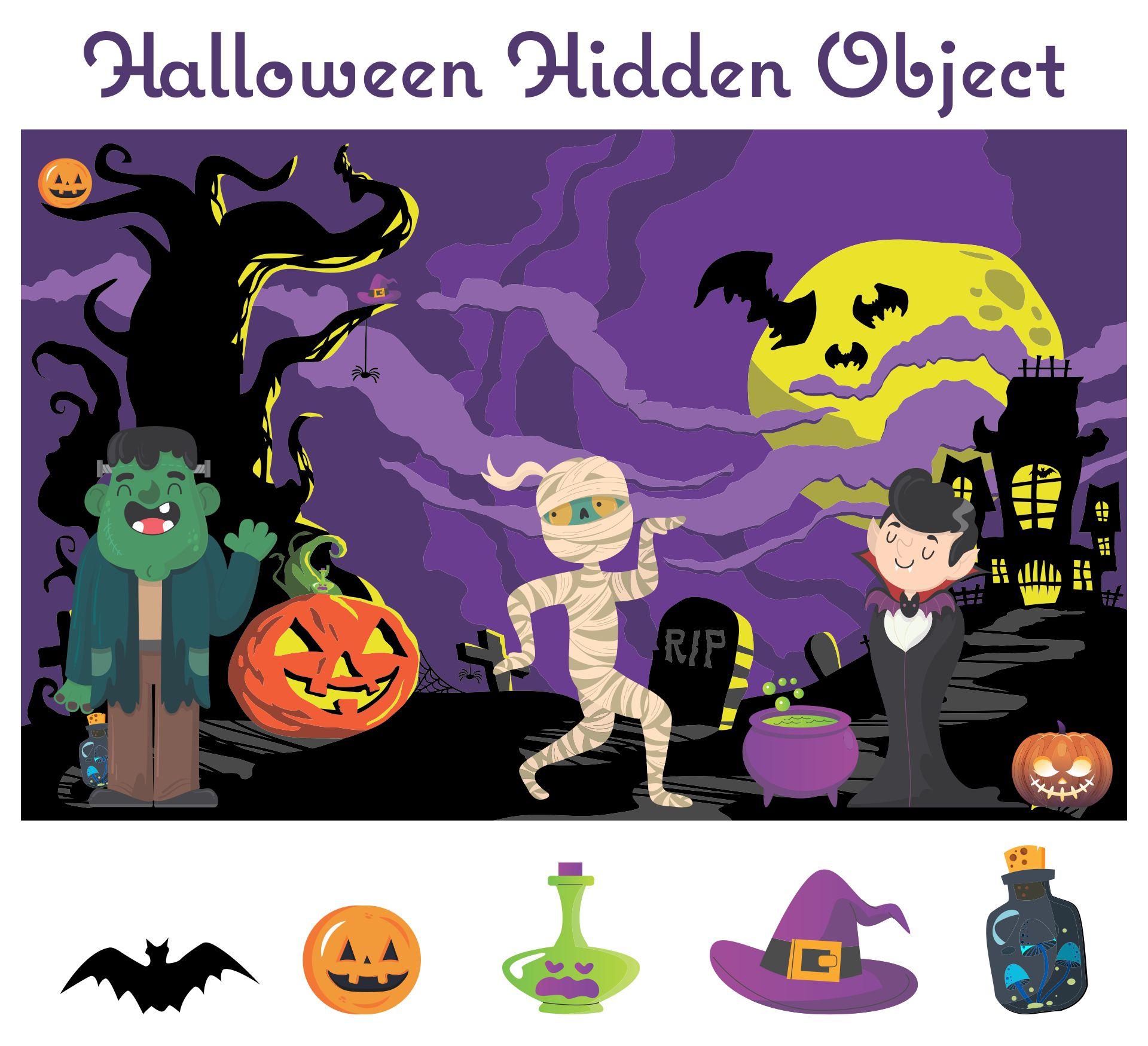 5 Best Halloween Seek And Find Printables Printablee Com