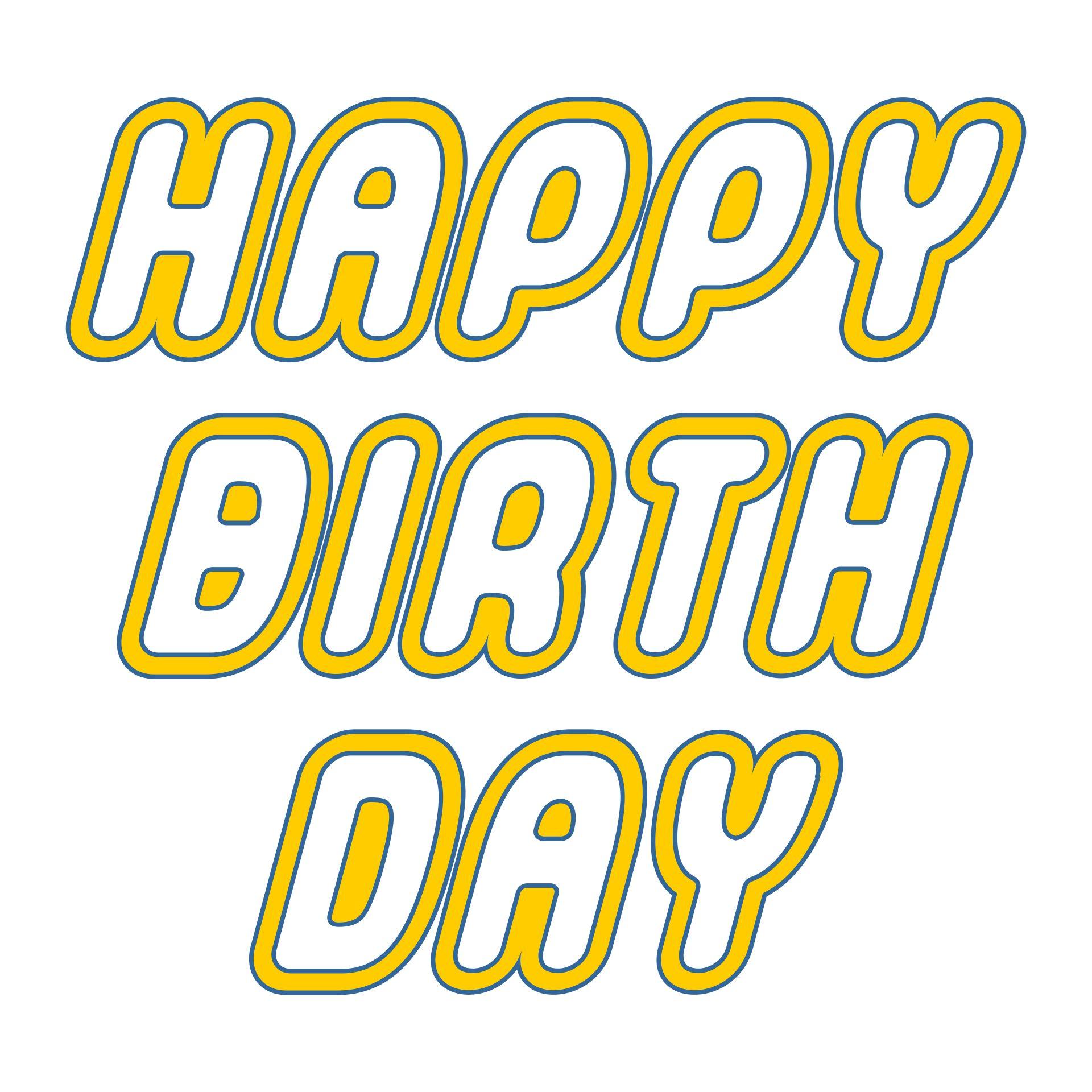 Printable Happy Birthday LEGO Font