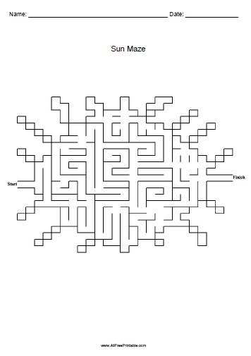 4 Images of Printable Sun Maze
