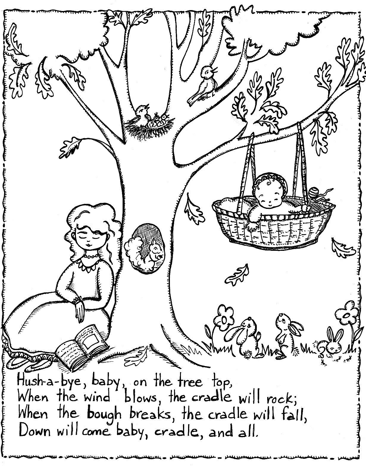7 Images of Printable Nursery Rhyme Coloring Sheets