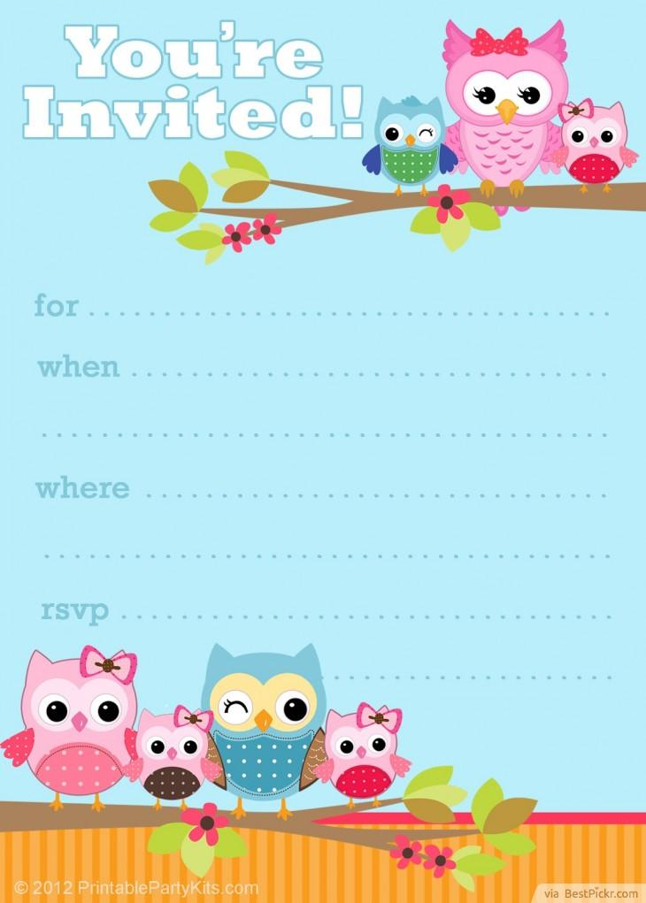 9 Images of Printable Owl Invitations