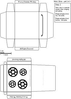 kitchen worktop cutting template - 5 best images of white house miniature printable free