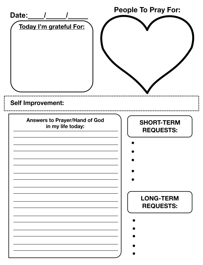 Printable Prayer Journal Page