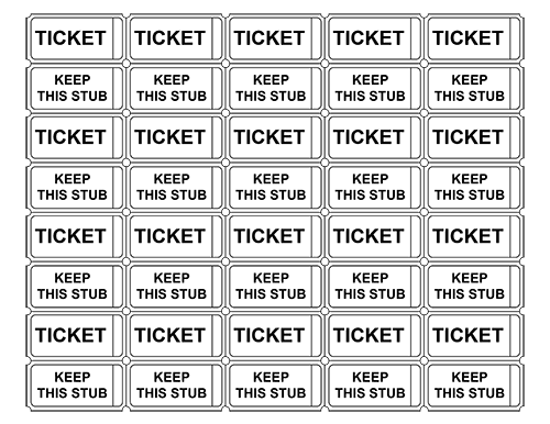 7 Images of Printable Raffle Tickets With Numbers