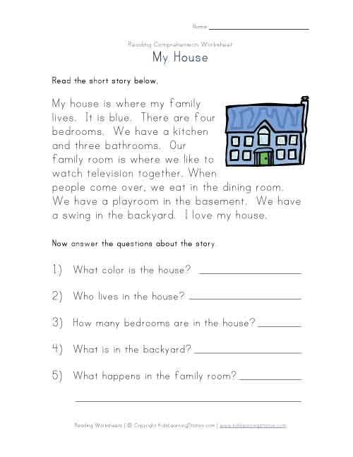 math worksheet : 7 best images of reading comprehension worksheets free printable  : Free Printable Reading Worksheets For Kindergarten