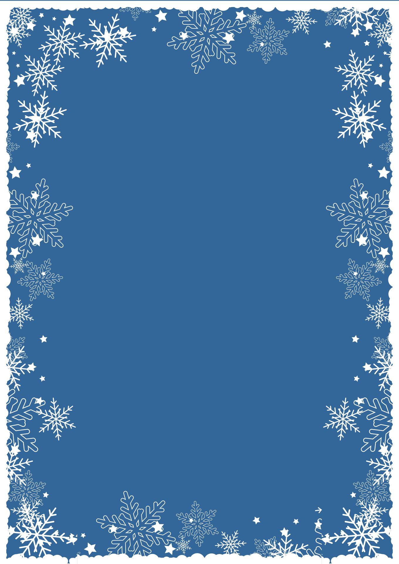Printable Stationary Borders Snowflake