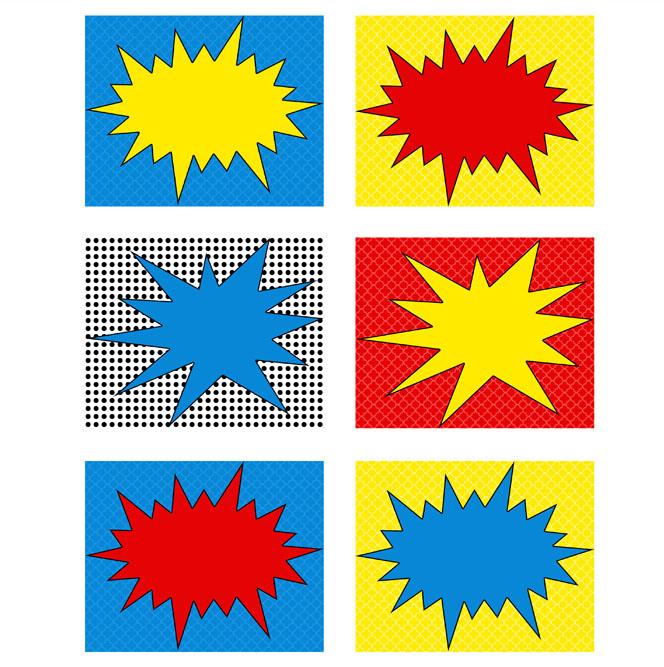 8 Images of Superhero Printable Labels