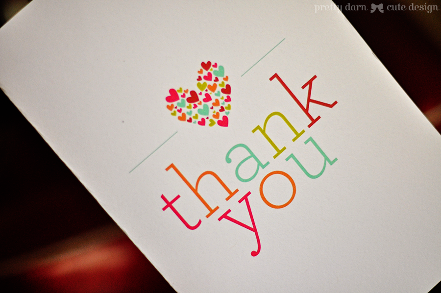 6 Images of Cute Thank You Cards Printable