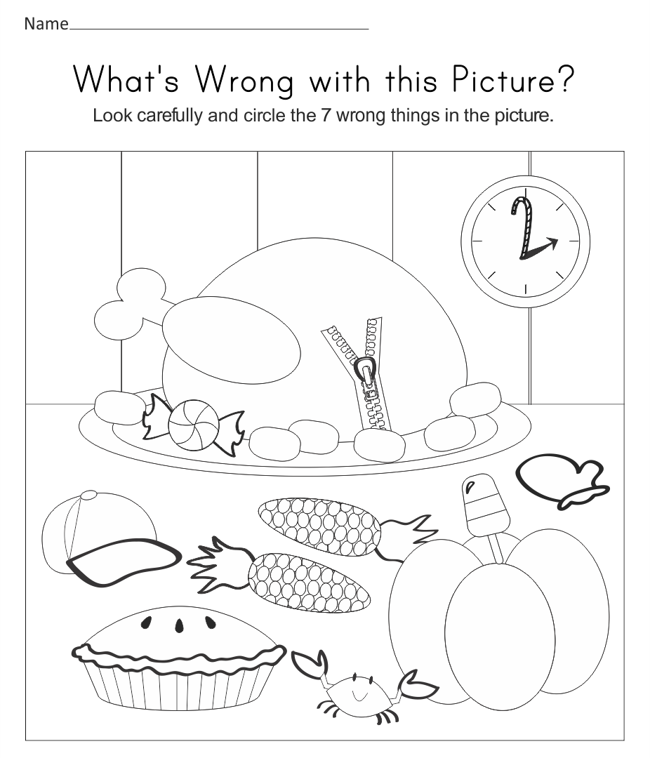 Printable Thanksgiving Worksheets