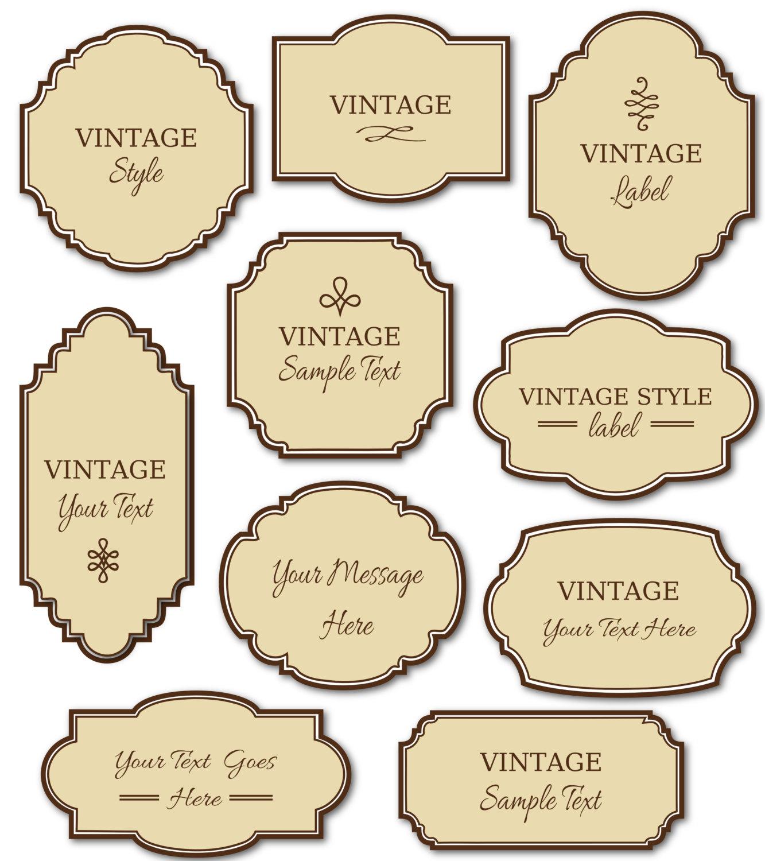 5 Images of Free Vintage Food Labels Printable