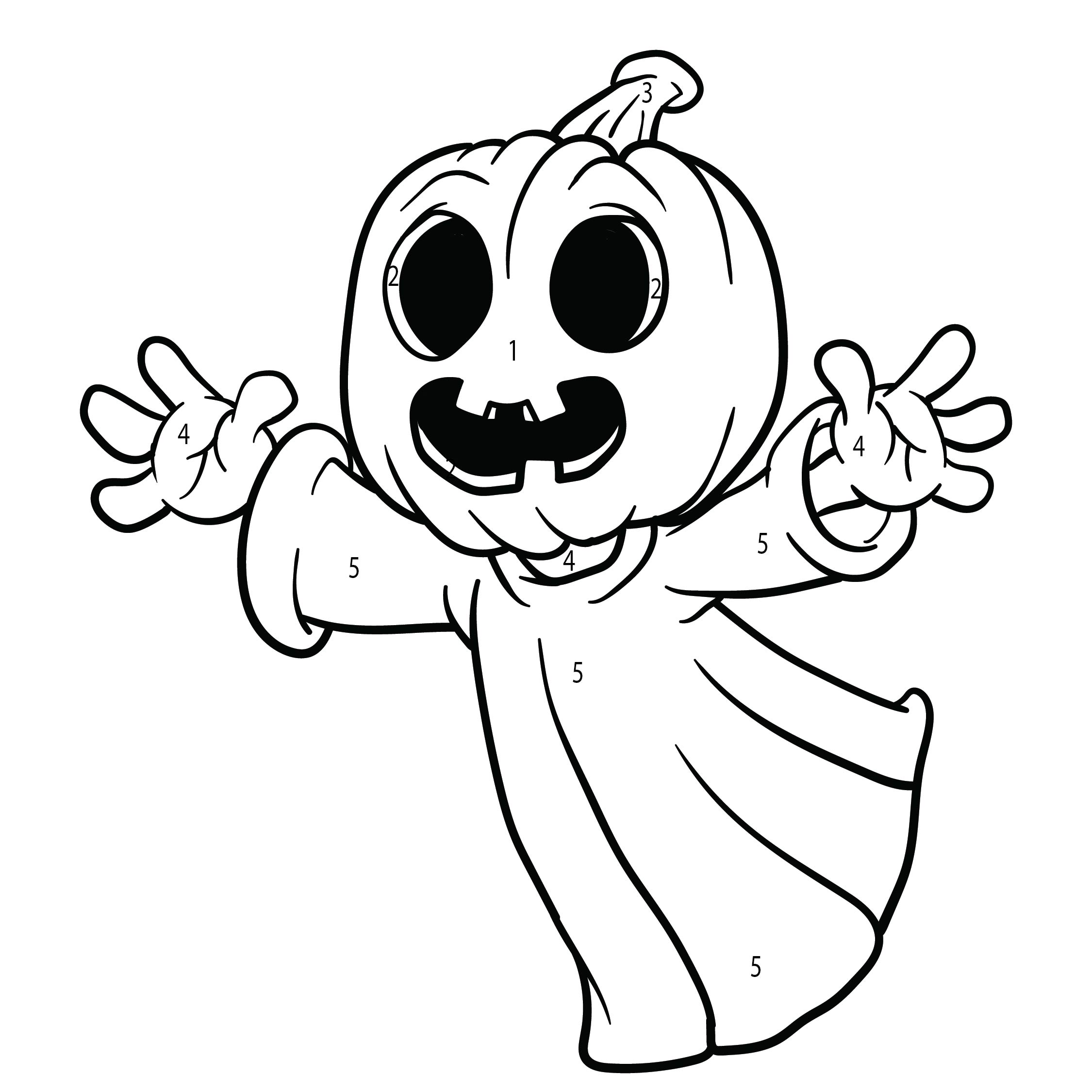 8 best images of halloween addition color by number for Halloween multiplication coloring pages