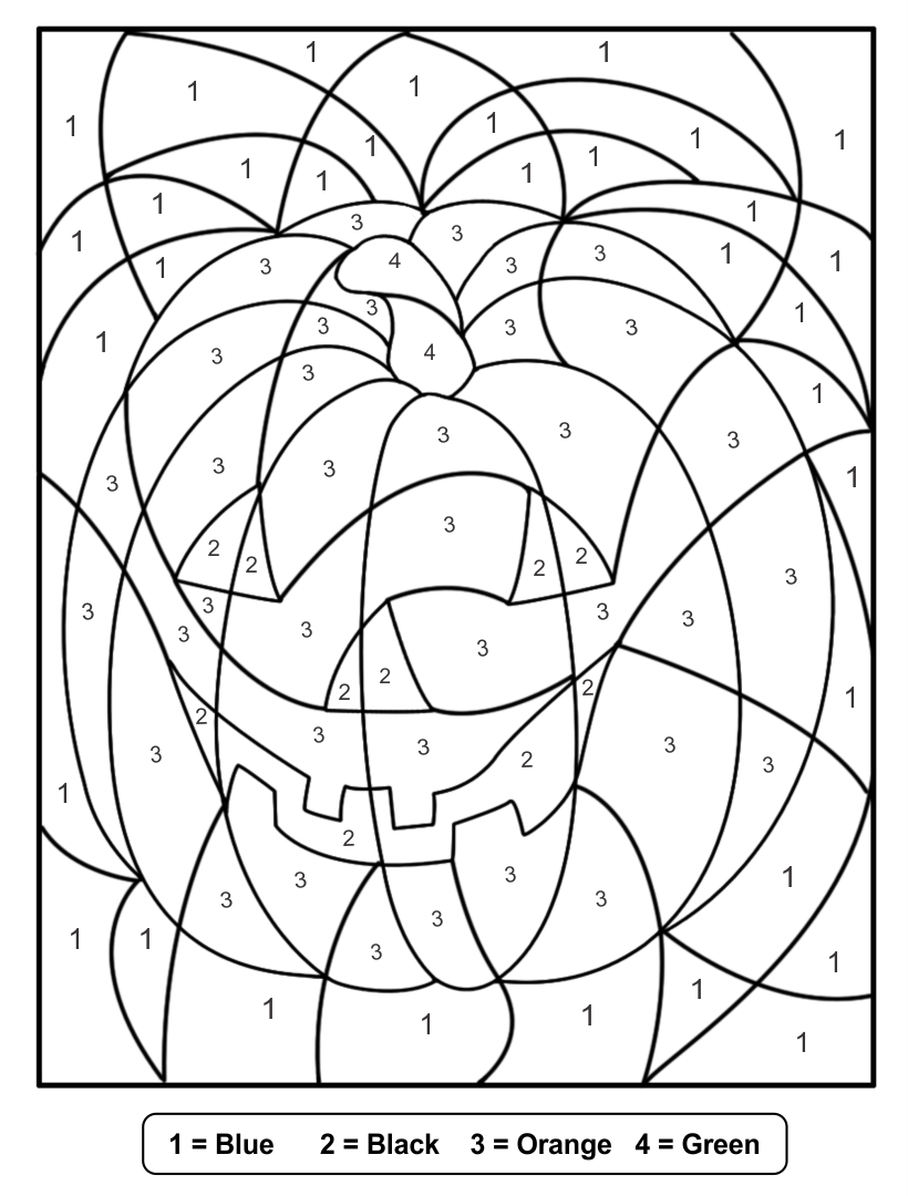 Multiplication coloring worksheets halloween house shape for Halloween multiplication coloring pages