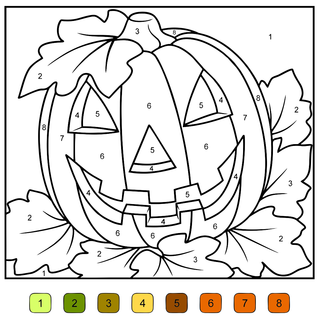 math worksheet : 8 best images of halloween addition color by number printables  : Halloween Math Coloring Worksheets